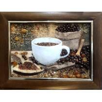 "3-D картина із бурштину ""Кава"" 20х30 см"
