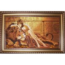 """Картина із бурштину """"Клеопатра"""" 40х60 см"""