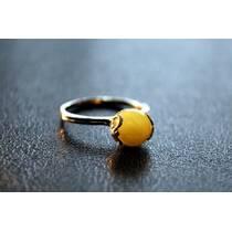 """Перстень із бурштину """"Ель"""""""