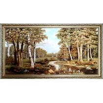 """Картина з бурштину """"Лісова річка"""" 100x60 см"""