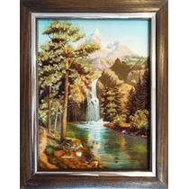 "Картина з бурштину ""Водоспад"" 15x20 см"