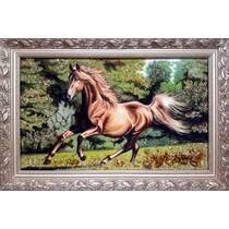 """Картина із бурштину """"Кінь"""" 30х50 см"""
