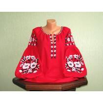 вышиванка женская красная  бохо