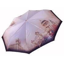Панорамный зонт Три Слона САТИН ручка кожа ( полный автомат ) арт. L3845-2