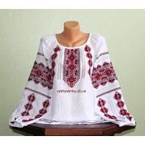 жіноча вишиванка на домотканому полотні