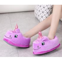 STK Детские тапочки игрушки фиолетовые Единороги,30-35