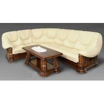 Угловой диван Лорд с цельным деревянным каркасом