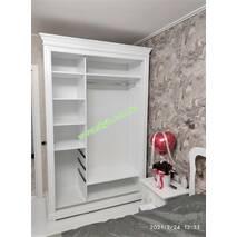 Белый деревянный шкаф купе Мария на заказ