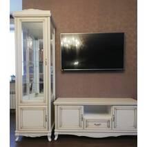 Біла деревяна тумба ТВ Венеція