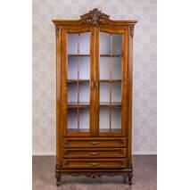 Двухдверная витрина шкаф Версаль Барокко стиль массив дерева