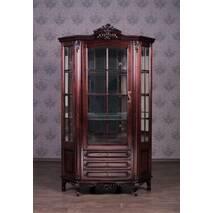Большая угловая витрина Версаль для посуды из дерева