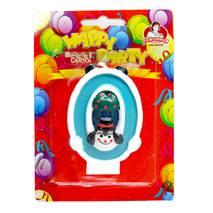 """Свічки д/торту """"Свічка циферка з клоуном  0, 8см. ТМ """"Помічниця"""""""