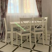 Деревянный раскладной стол Прага со стульями Икс