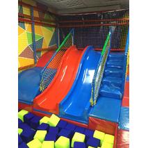 Горка двойная из стеклопластику, двускатный для детской площадки 2,8 м, H - 1,2 м.