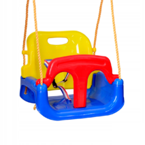 Качели для детей 4в1 с защитой и столиком Синей