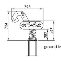 Качалка на пружині KBT Екскаватор з HDPE пластику