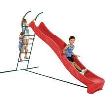 Детская горка для улицы 3 м. со ступеньками Красный