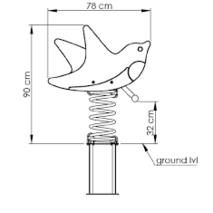 Качалка на пружине KBT Ласточки из HDPE пластика (полный комплект)