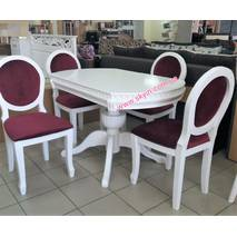 Дубовый обеденный комплект Топаз кольцо со стульями Олимп