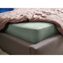 Натяжная простыня Essentials Dormeo Зеленый  140x200 см