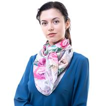 TRC Платок большой AMO Платок женский шелковый 90*90 см AMO STAMOp90904