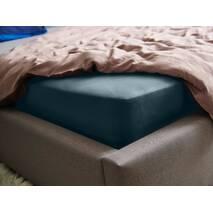 Натяжная простыня Essentials Dormeo Циан (цвет морской волны)  180х200 см