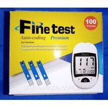 Глюкометр Infopia Fine test Auto - coding Premium   тест смужки Fine test 100 шт.