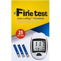 Глюкометр Infopia Fine test Auto - coding Premium   тест смужки Fine test 25 шт.