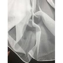 Однотонный тюль батист без блеска цвет молочный Высота 3м