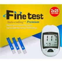 Глюкометр Infopia Fine test Auto - coding Premium   тест смужки Fine test 50 шт.