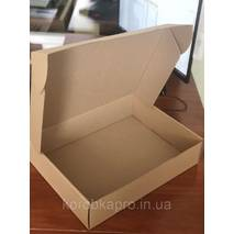 Упаковка картонная бурая для текстиля