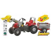 Трактор Педальний з Причепом і Ковшом Junior Rolly Toys 811397