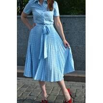 Сукня плісе сонце-кльош Блакитний горошок