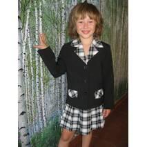 Школьная форма для девочек младших классов, черная с вставками