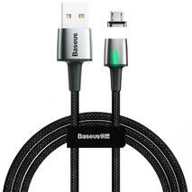 USB Cable Baseus Zinc Fabric Magnetic MicroUSB (CAMXC-B01) Black 2m