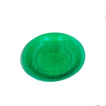Тарілка десертна Галсофт Сервіс пластикова, зелена ГП032 (116-89)