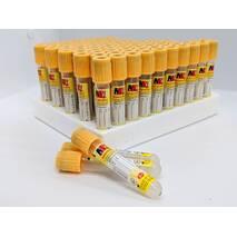 Пробирка вакуумная для забора крови и с разделяющим гелем«MEDRYNOK», 3,5 мл, с активатором свертывания, 13х75 мм, желтая крышка