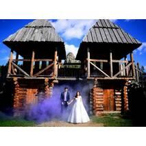 Цветной дым, фиолетовый