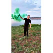 Цветной дым, зеленый