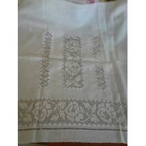 Полтавская вышиванка белым по белому женская ручной работы