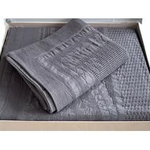 Покривало Maison Dor Lacene Antrasit бавовну 250-260 см темно сіре