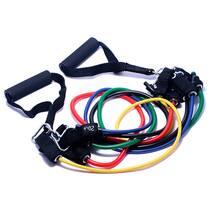 Эспандер трубчатый Forever (Набор из 5 штук) - Многофункциональный тренажер для фитнеса, рук, ног, ягодиц, груди, спины, плеч