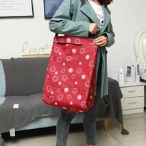 Корзина-сумка для белья игрушек красная Веселые смайлы