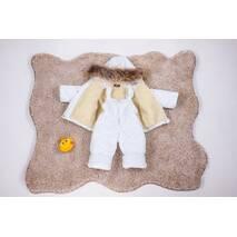 Зимовий комбінезон з курткою дитячий Natalie Look 86-92 см білий