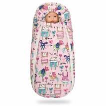 Зимний конверт для новорожденного на выписку и прогулку Baby XS 56-74 Рисунки на Розовом фоне