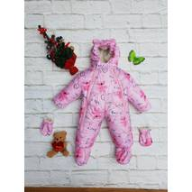 Зимний комбинезон-трансформер на овчине Timmy Kids Медвежата 56-80 см розовый