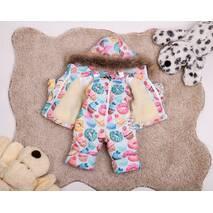Зимовий комбінезон з курткою дитячий Natalie Look Кексик 98-104 см кольорової