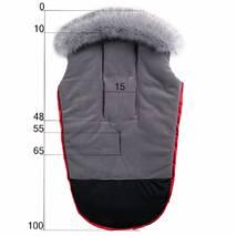Конверт в коляску зимний Тренд флисовый Красный с опушкой