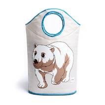 Кошик для іграшок білий Полярний ведмедик