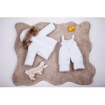 Зимовий комбінезон з курткою дитячий Natalie Look 98-104 см білий